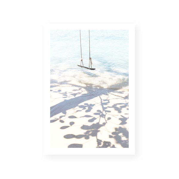 coastal swing beach framed art print canvas wall art