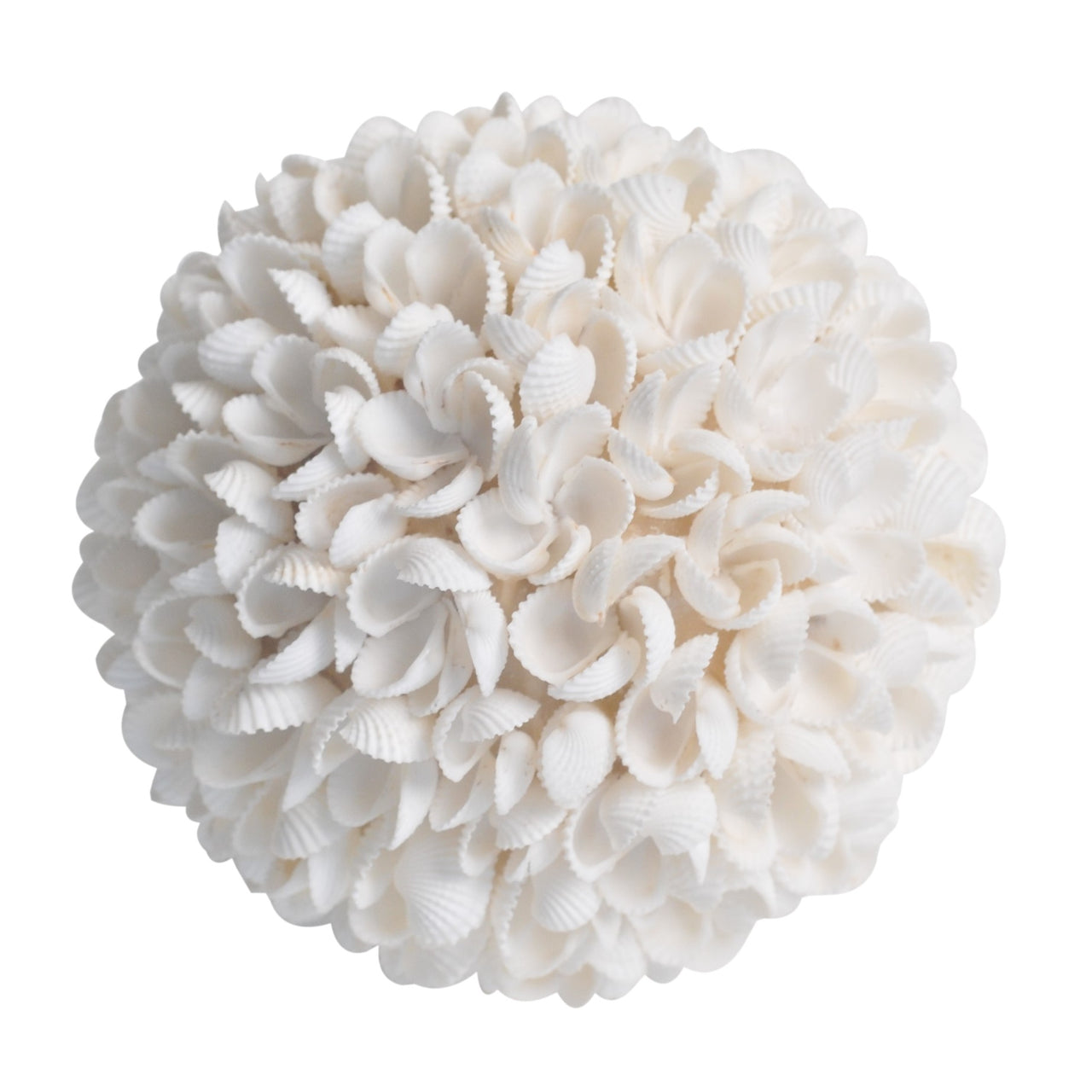 Shell Flower Ball- White