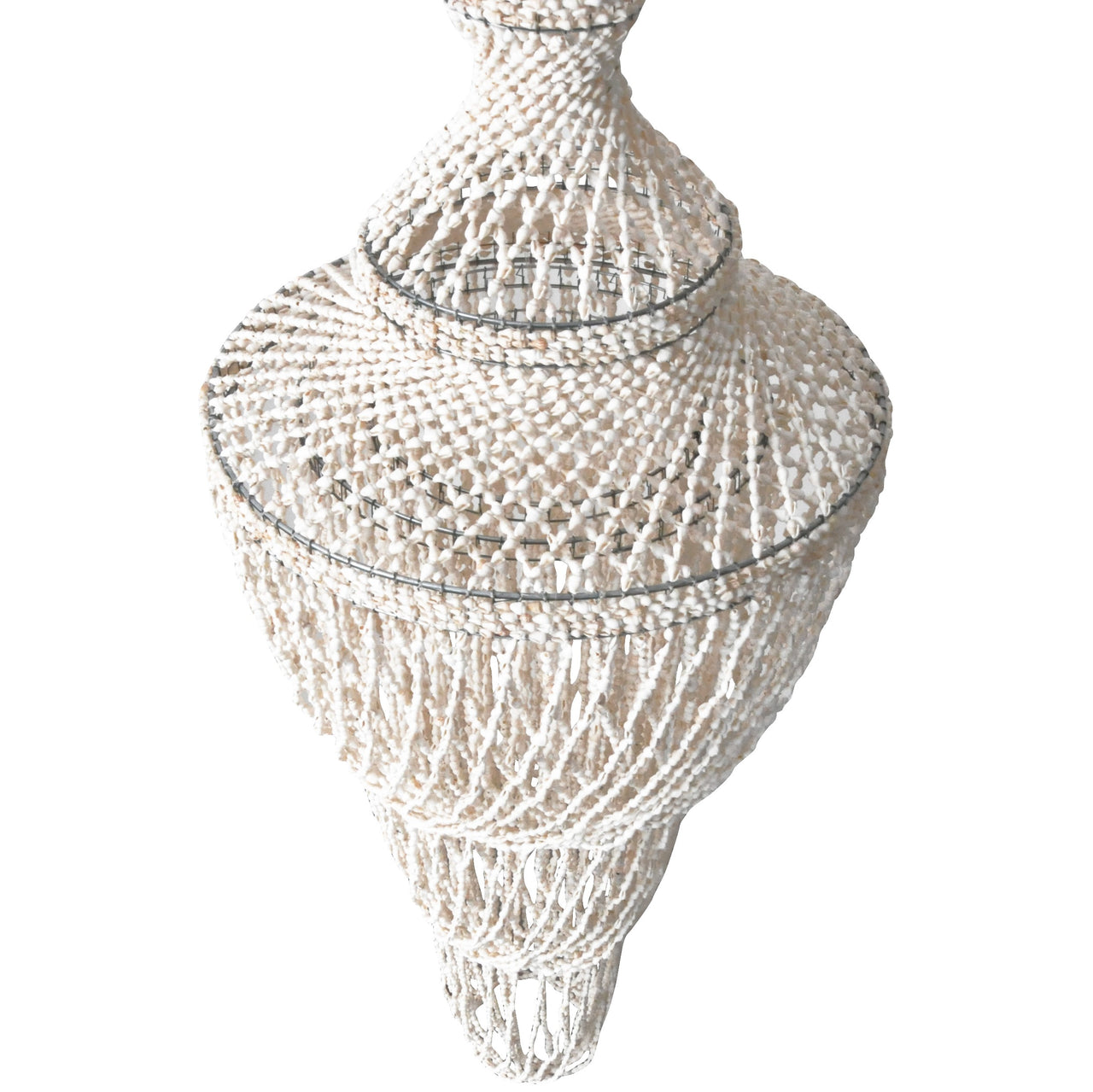 Beachy Shell Chandelier