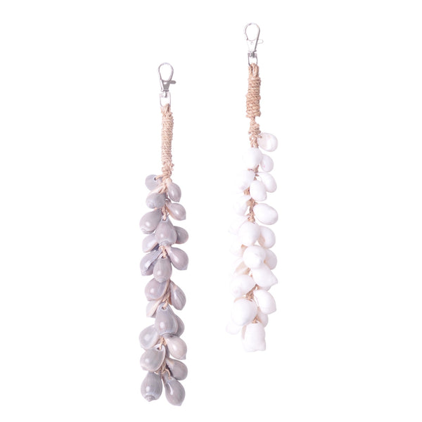 shell cascading key ring decorative keys gift idea coastal