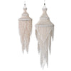 shell decoration chandelier windchime hanging hanger white natural coastal