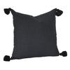 Soho Tassel Cushion- Black