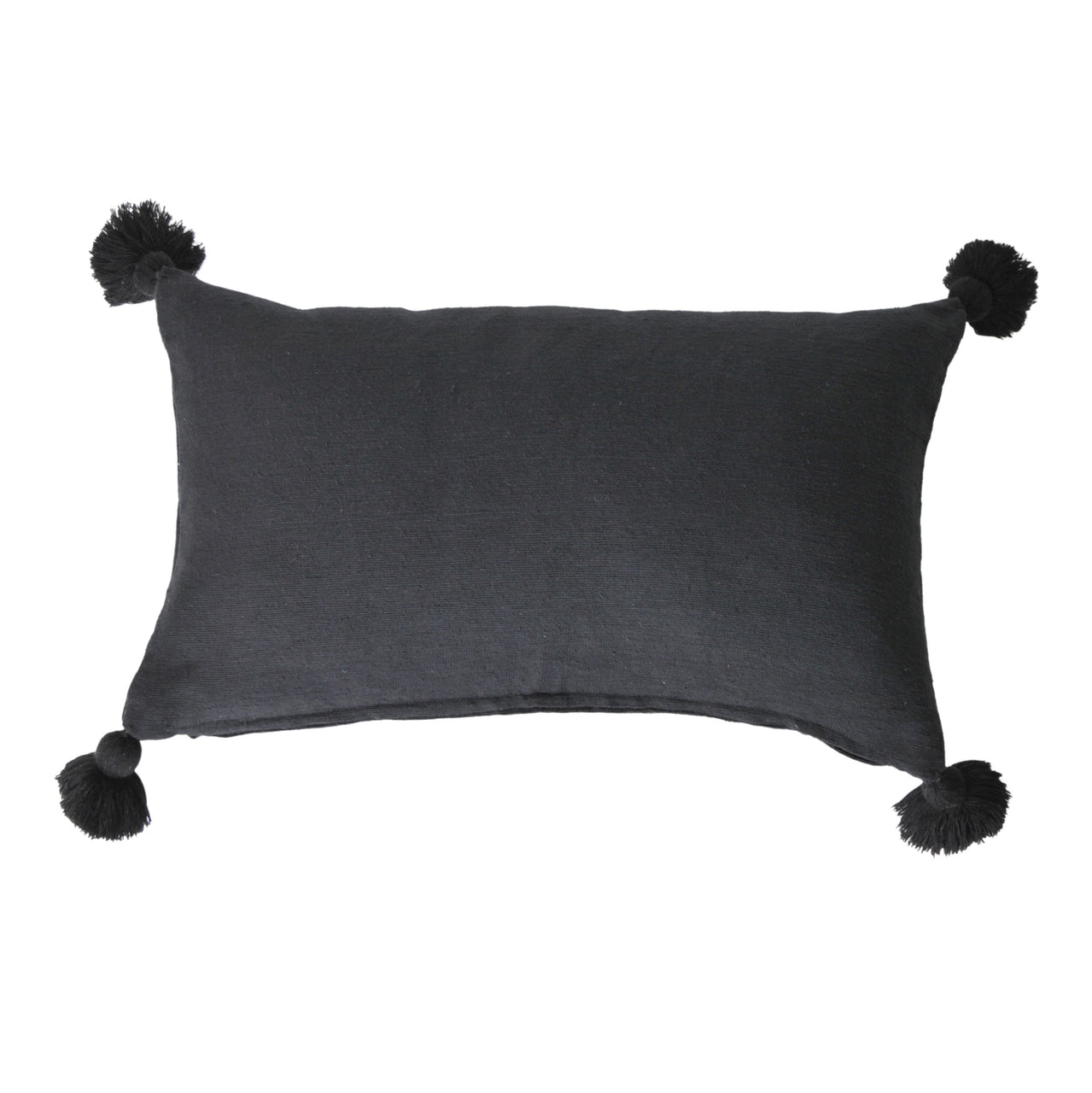 Soho Tassel Lumbar Cushion- Black