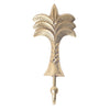 gold brass palm wall hook