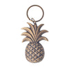 brass pineapple key ring bronze