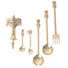 Brass Palm Teaspoon- Gold