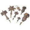 Brass Pineapple Key Ring- Bronze