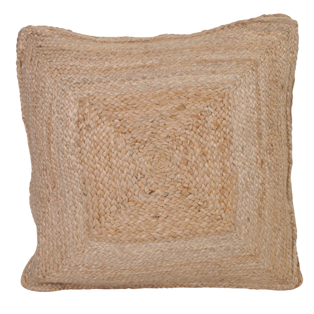 jute floor cushion large pillow euro 60cm square earthy natural organic