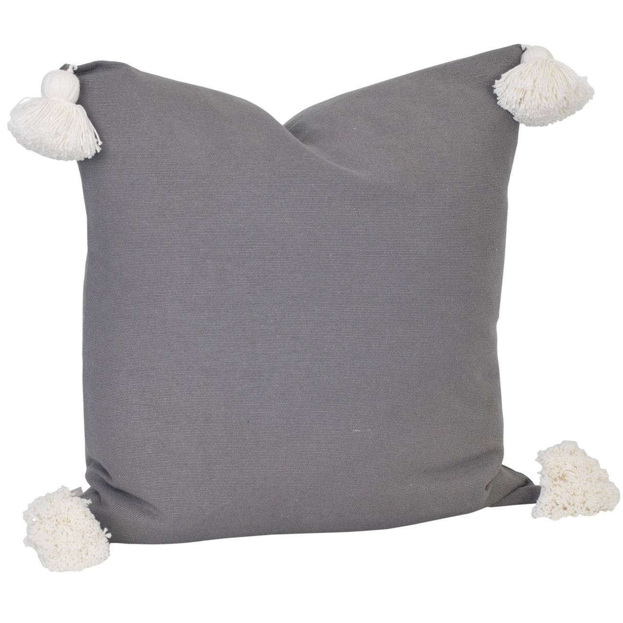 Soho Tassel Cushion- Charcoal