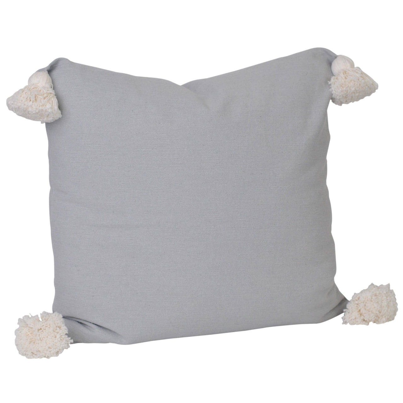 Soho Tassel Cushion- Dove Grey