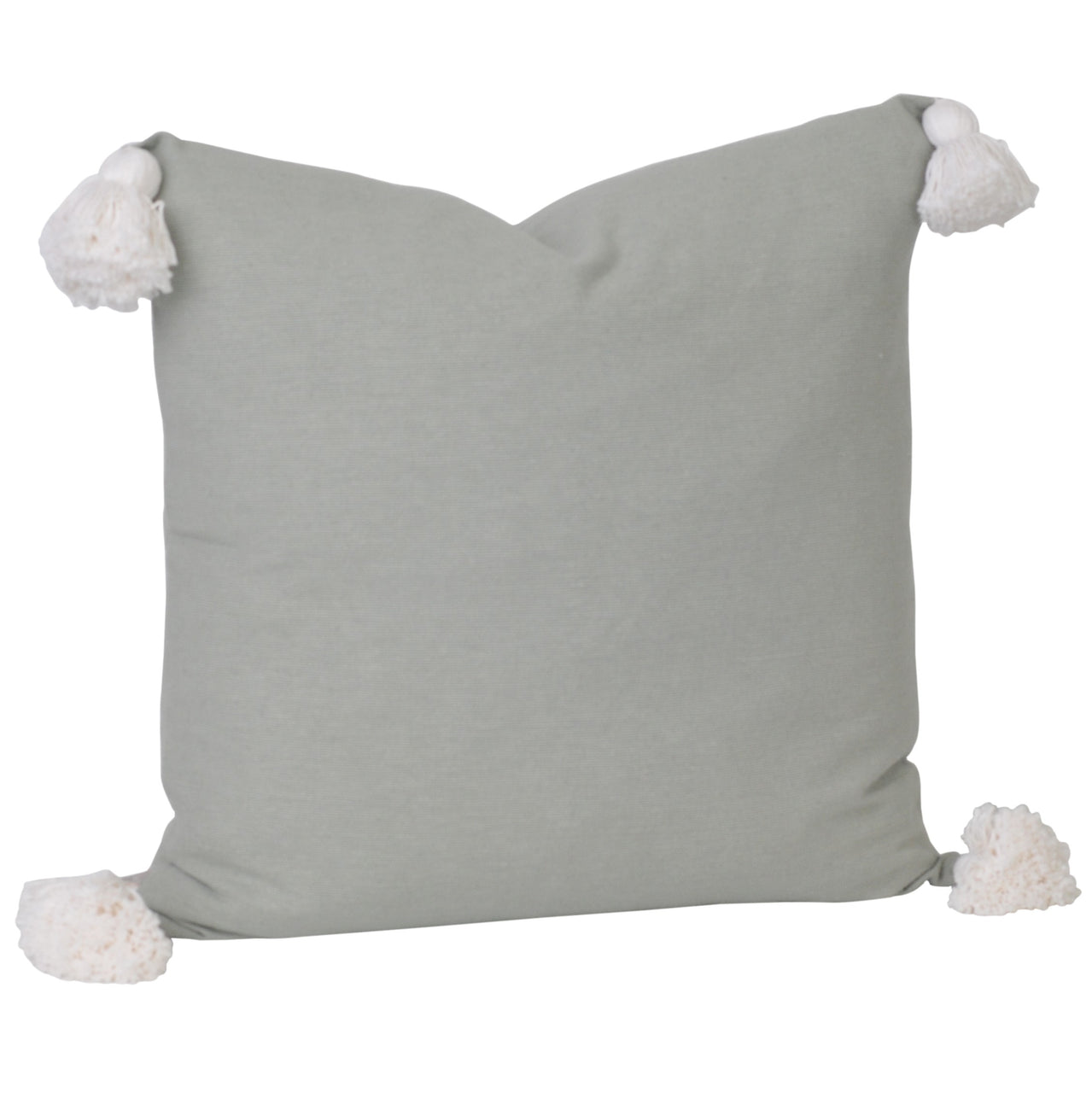 Soho Tassel Cushion- Sage