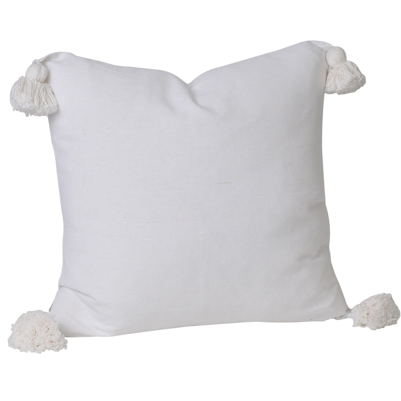 Soho Tassel Cushion- White