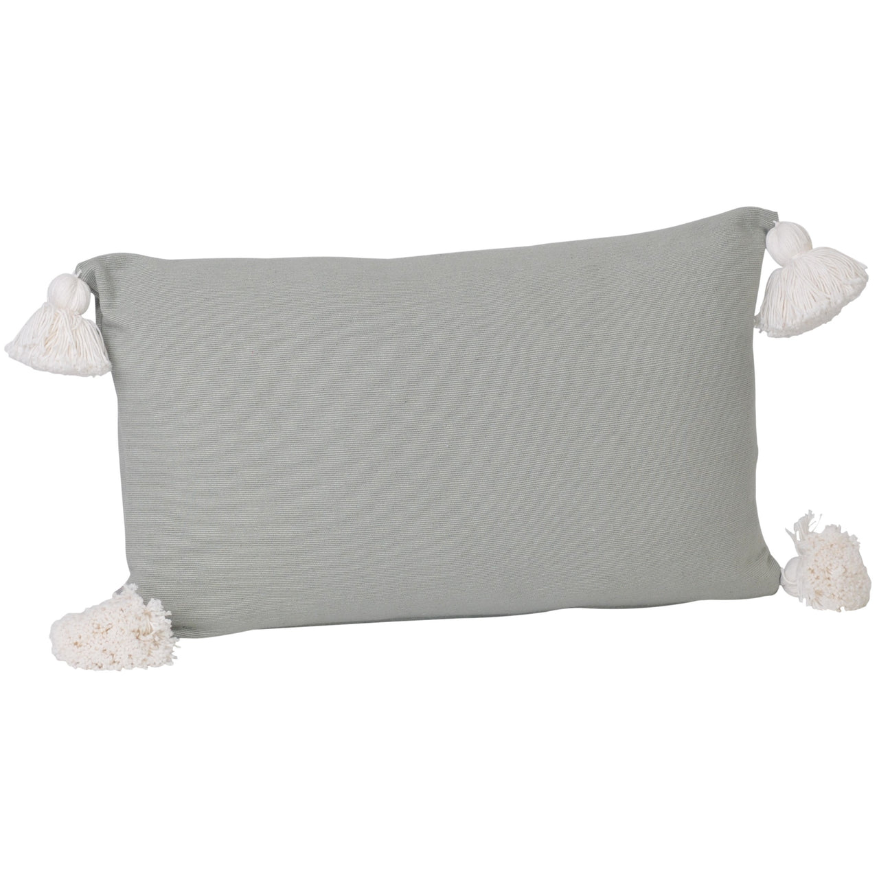 Soho Tassel Lumbar Cushion- Sage