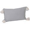 Soho Tassel Lumbar Cushion- Dove Grey
