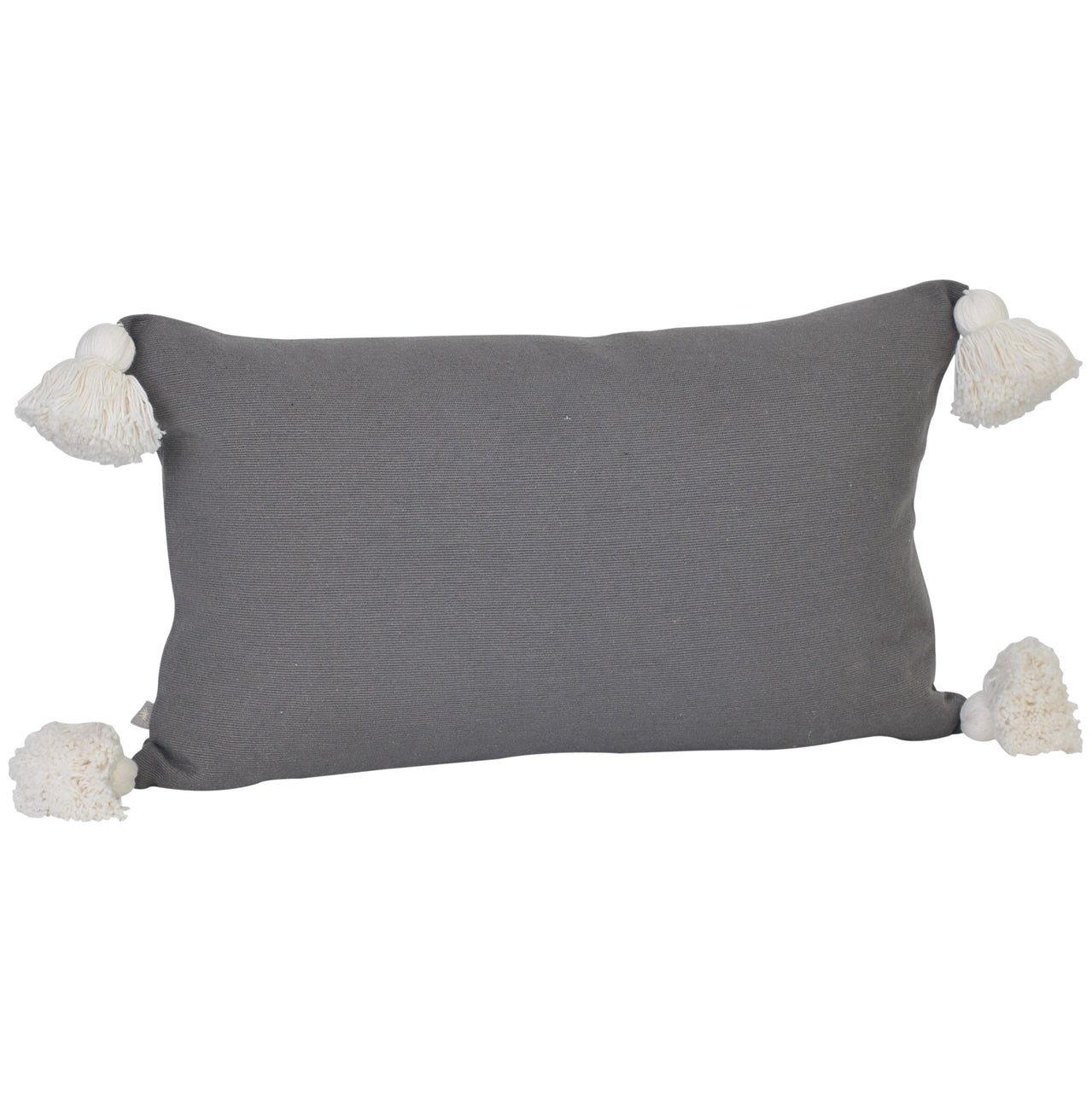 Soho Tassel Lumbar Cushion- Charcoal