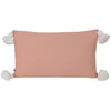 peach coral rectangular rectangle lumbar pom pom tassels tassles cushion pillow coastal boho contemporary scandi hamptons