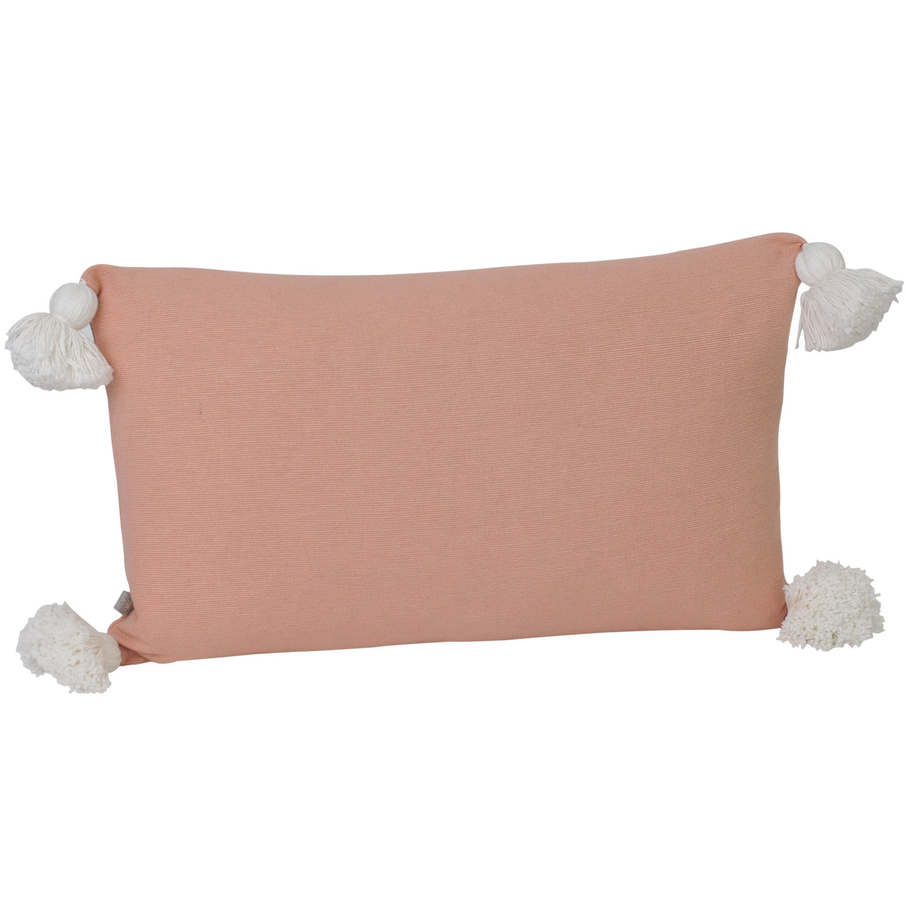 Soho Tassel Lumbar Cushion- Peach