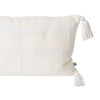 Coast Lumbar Cushion- White Stripe
