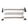 black stripe lumbar rectangular cushion tassels tassles