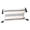 Coast Lumbar Cushion- Black Stripe