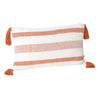 Coast Lumbar Cushion- Rust Stripe