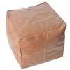 Axel Leather Ottoman- Tan (PREORDER)