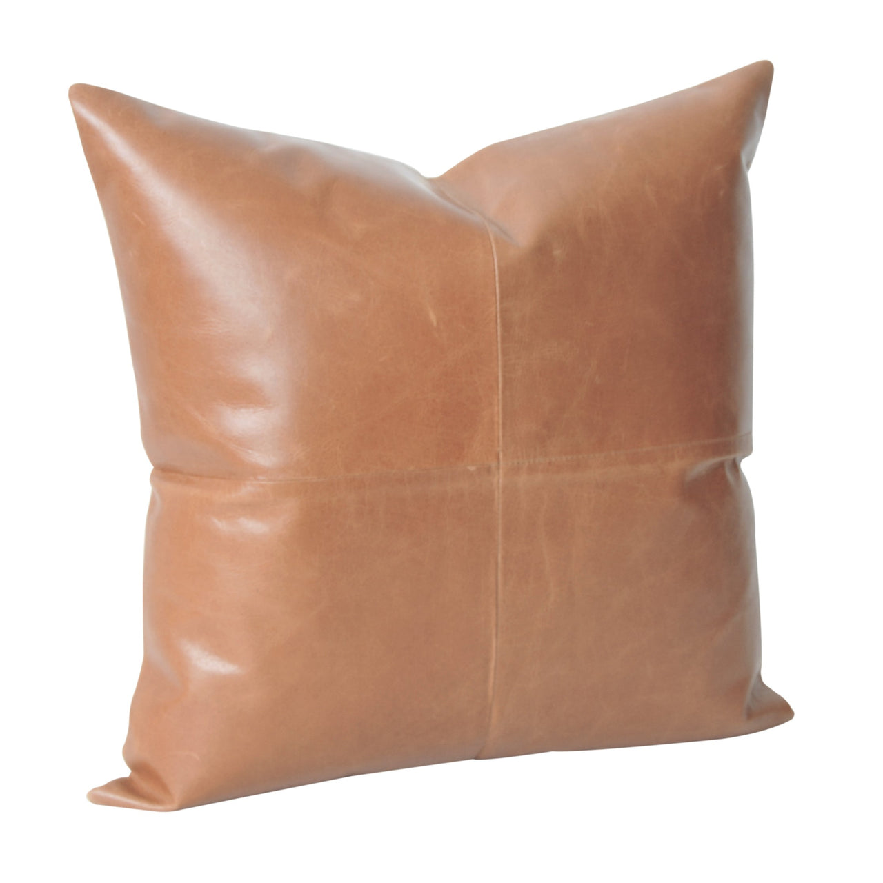 Leather Luxe Cushion- Tan