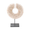 cowrie hoop on stand shell decor