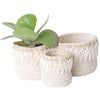 Oahu Crochet Shell Pot
