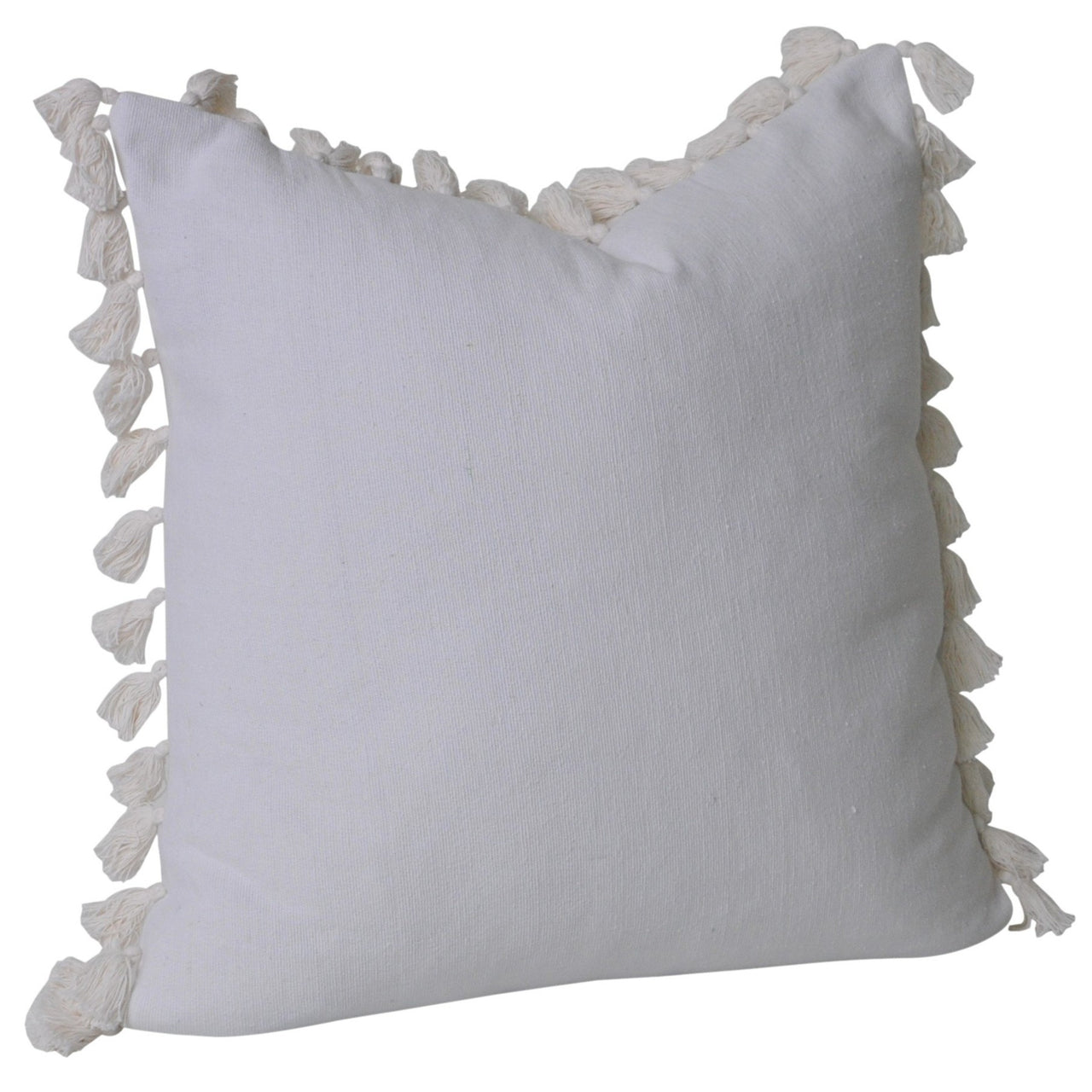 Tayla Tassel Cushion- White