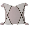 euro cushion mushroom tassels geometric design chocolate trim
