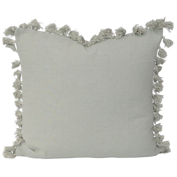 Tayla Tassel Cushion- Moss
