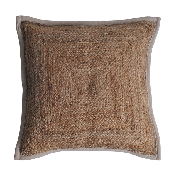 jute boho bohemian coastal natural earthy cushion pillow