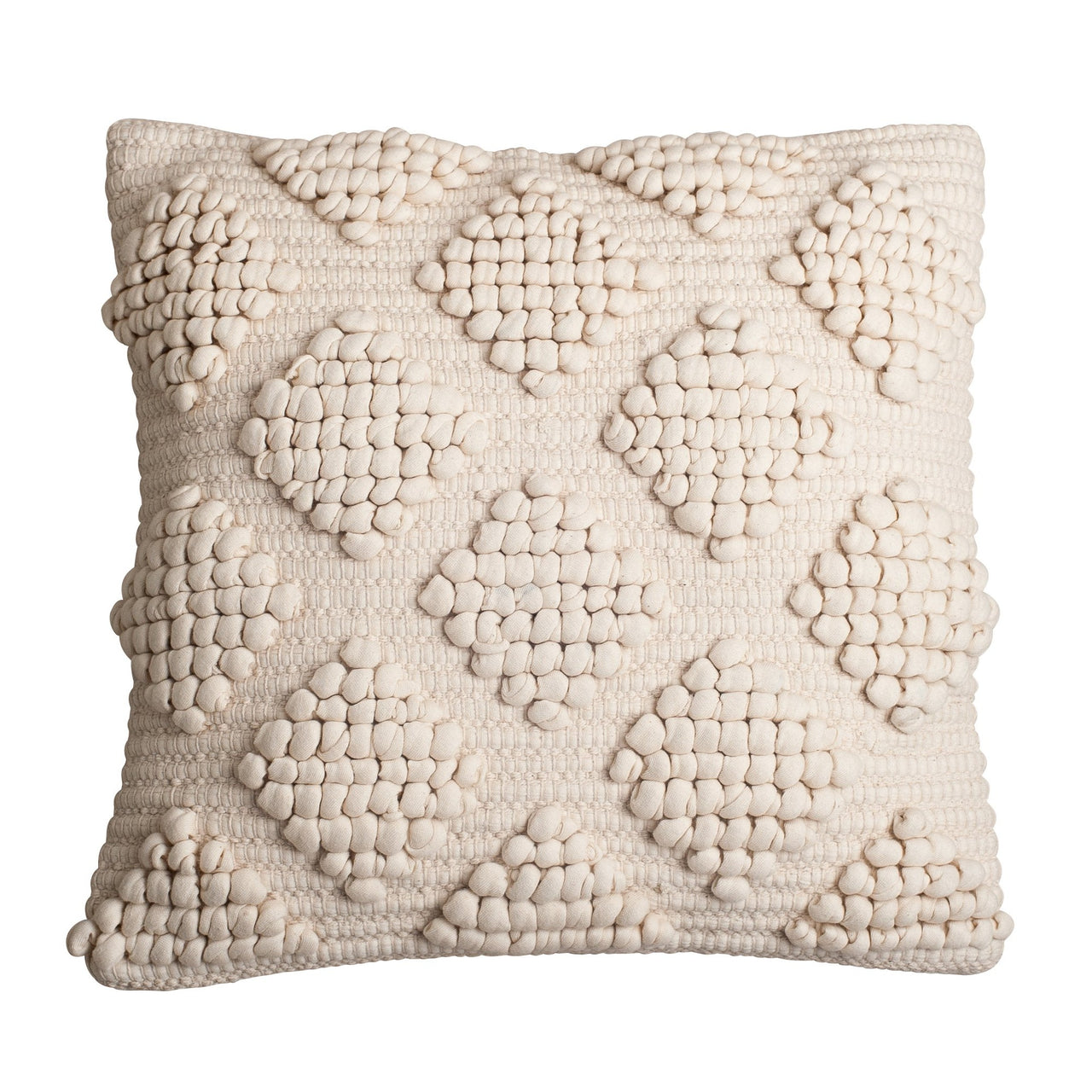 natural textured diamond boho cushion pillow