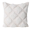 white boho bohemian knotted neutral natural textured coastal cushion pillow