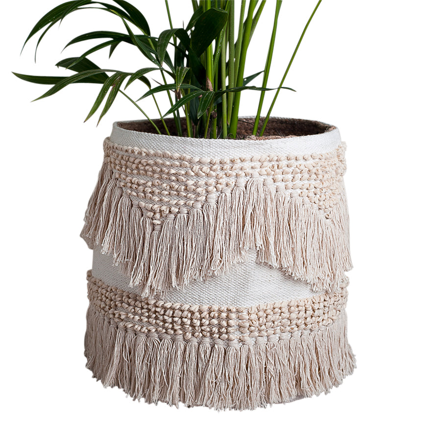 Kirra Boho Basket- White/Natural™️