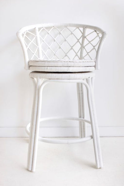 Mandalay Swivel Stool- White