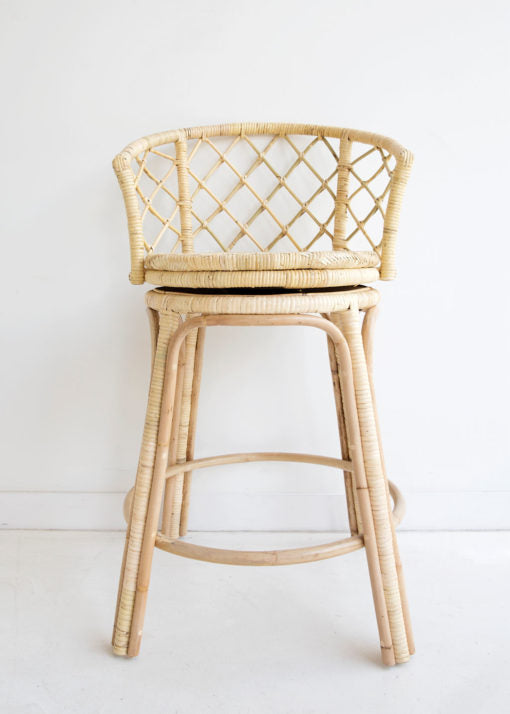 Mandalay Swivel Stool- Natural