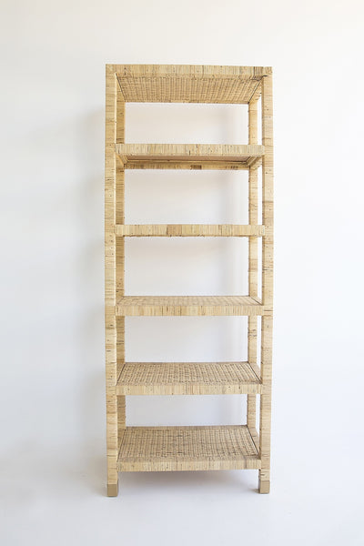 rattan cane plantation beach house shelves bookcase coastal