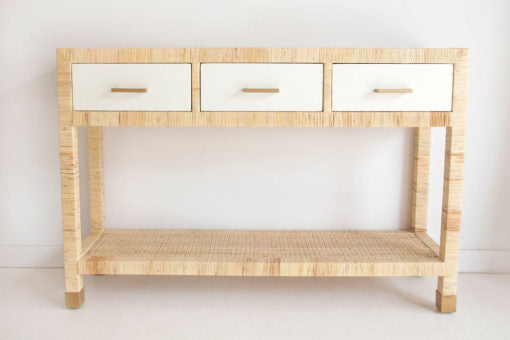 rattan cane console with drawers buffet sideboard coastal