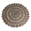 jute round decorative rug mat coastal boho bohemian circle