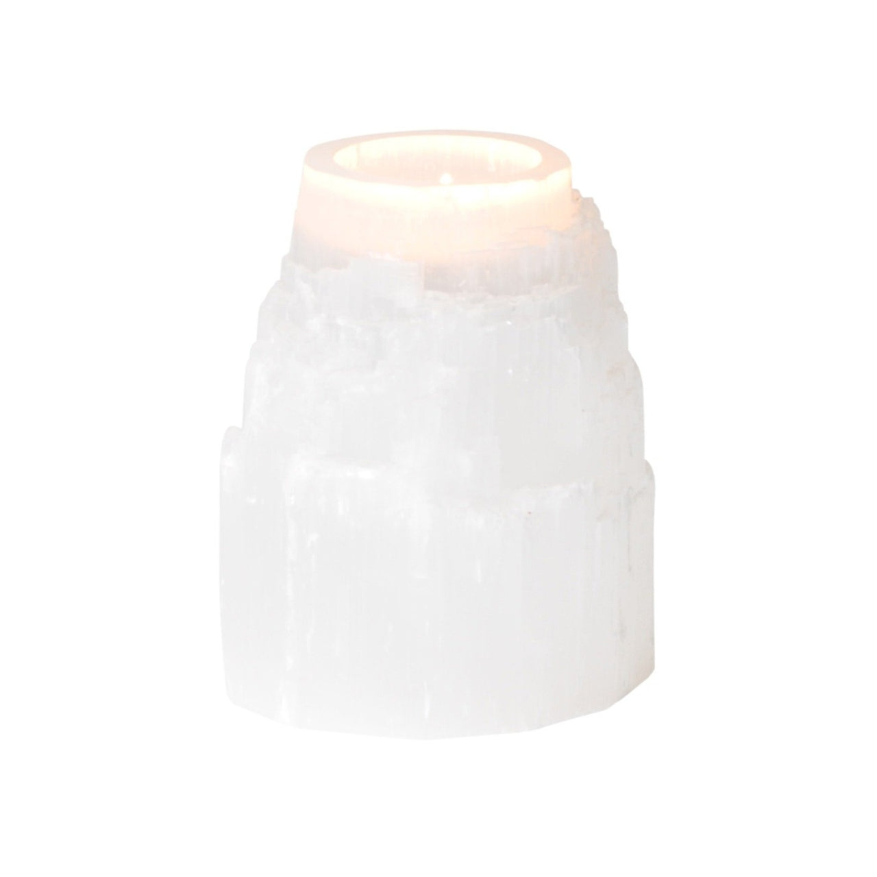 Selenite Tower Tea-light Holder