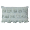fringing frayed lumbar sage eucalyptus cushion pillow texture textured