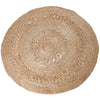 jute round rug 100cm woven