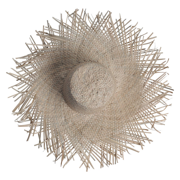 sun hat decorative texture textured natural blonde seagrass wall art decor