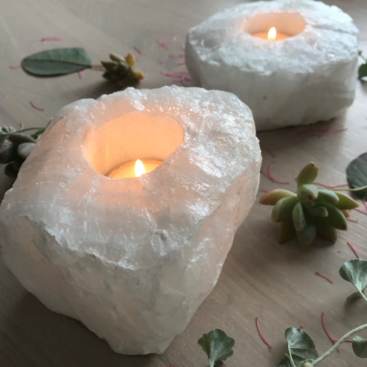 Tea-Light Holder- Clear Quartz (PREORDER)