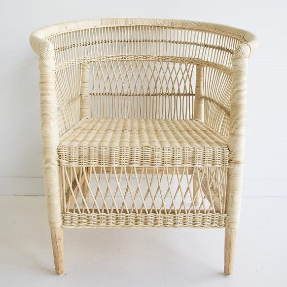 rattan cane malawi chair natural neutral tribal boho bohemian coastal