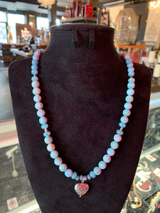 "Larimar & Sterling Silver 21"" Necklace"