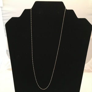 "20"" 14K White Gold Singapore Chain"