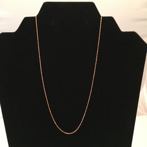 "18"" 14K Rose Gold Singapore Chain"